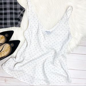 FRAME- BLANC DOT SILK TOP